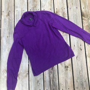 Purple cashmere sweater